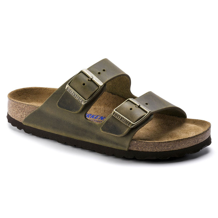Arizona Soft Footbed Oiled Leather jade - Birkenstock Plus