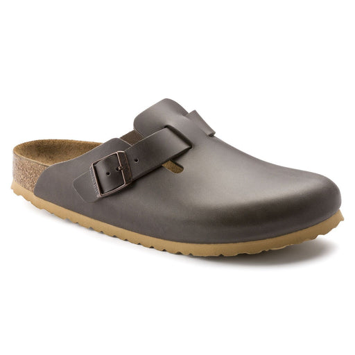 Boston Soft footbed Leather Antique Pull Anthracite - Birkenstock Plus