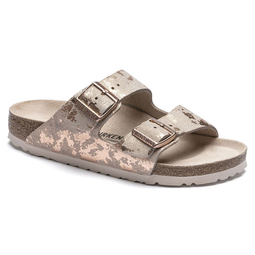 Arizona Suede Leather Vintage Metallic Rose Copper - Birkenstock Plus