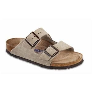 Arizona Suede Leather Taupe - Birkenstock Plus