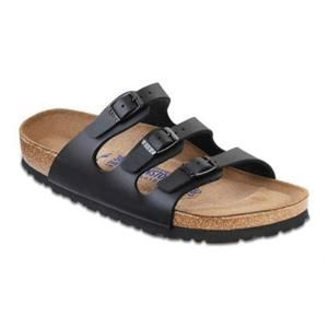 Florida Soft Footbed Birko-Flor Black - Birkenstock Plus
