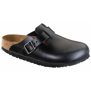 Boston Soft Footbed Leather Amalfi Black - Birkenstock Plus