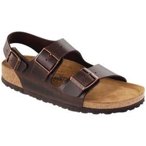 Milano Soft Footbed Leather Amalfi Testa Di Moro - Birkenstock Plus