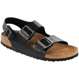 Milano Soft footbed Amalfi Leather Black - Birkenstock Plus