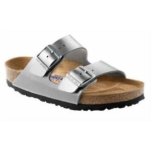 Arizona Soft Footbed Birko-Flor Silver - Birkenstock Plus