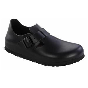 London Soft Footbed Leather Hunter Black - Birkenstock Plus