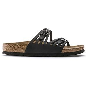 Granada Soft Footbed Oiled Leather Black - Birkenstock Plus