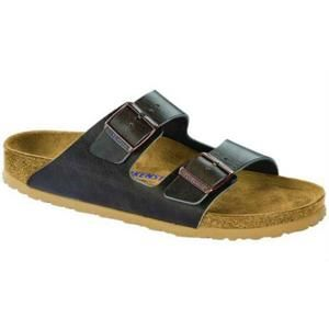 Arizona Soft Footbed Leather Antique Pull Anthracite - Birkenstock Plus