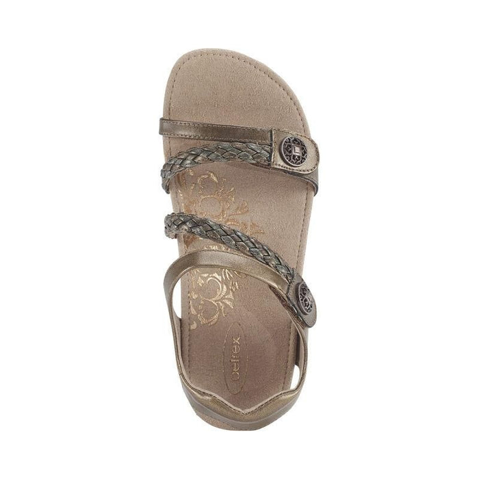 Jillian Braided Quarter Strap Bronze - Birkenstock Plus