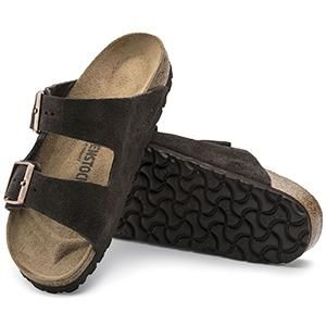 Arizona Suede Leather Mocha - Birkenstock Plus