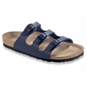Florida Soft Footbed Birko-Flor Blue - Birkenstock Plus