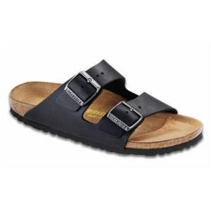 Arizona Soft Footbed Oiled Leather Black - Birkenstock Plus