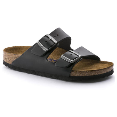 Arizona Soft Footbed Leather Amalfi Black - Birkenstock Plus