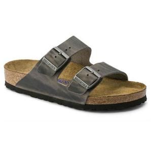 Arizona Soft Footbed Oiled Leather Iron - Birkenstock Plus