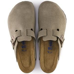 Boston Soft Footbed Suede Leather Taupe - Birkenstock Plus