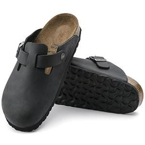 Boston Oiled Leather Black - Birkenstock Plus