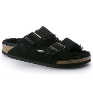 Arizona Shearling Suede Black - Birkenstock Plus