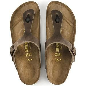 Gizeh Oiled Leather Tobacco Brown - Birkenstock Plus