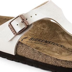 Gizeh Birko-Flor Graceful Pearl White - Birkenstock Plus