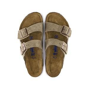 Arizona Soft Footbed Suede Leather Taupe - Birkenstock Plus