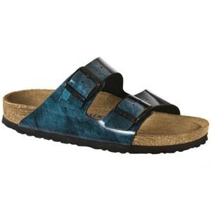 Arizona Soft footbed Birko-Flor Iride Strong Blue - Birkenstock Plus