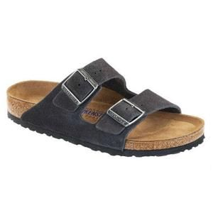 Arizona Soft Footbed Suede Leather Velvet Grey - Birkenstock Plus