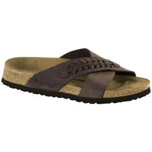 Daytona Oiled Leather Woven Brown - Birkenstock Plus