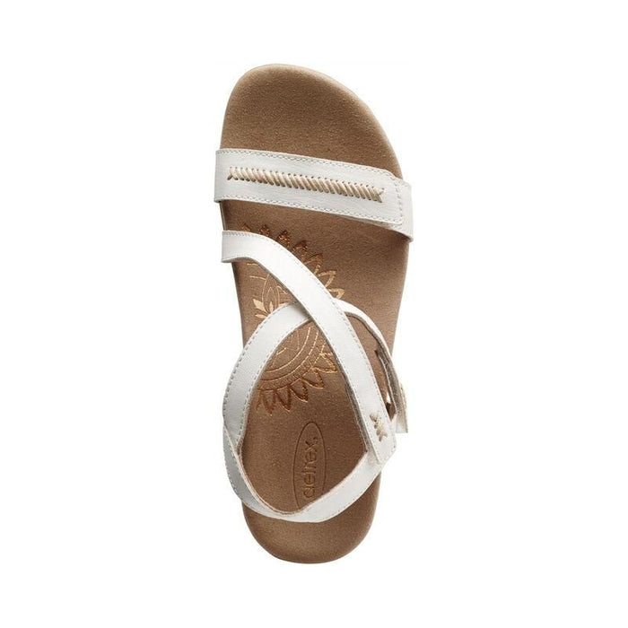 Gabby Adjustable Quarter Strap Sandal White - Birkenstock Plus