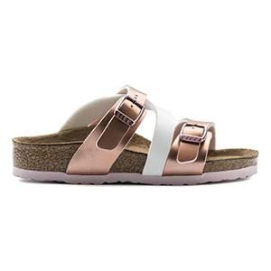 Salina  Kids Birko-Flor Metallic Rose White - Birkenstock Plus