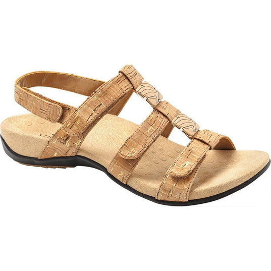 Amber Adjustable Sandal Gold Cork - Birkenstock Plus