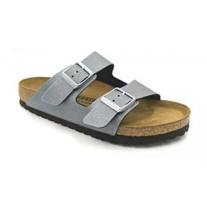 Arizona Birko-Flor Icy Metallic Anthracite - Birkenstock Plus