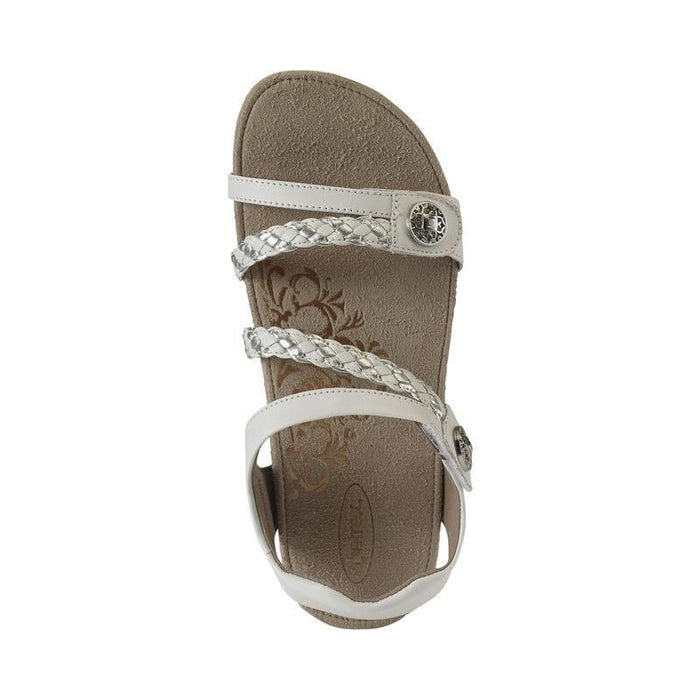 Jillian Braided Quarter Strap White - Birkenstock Plus