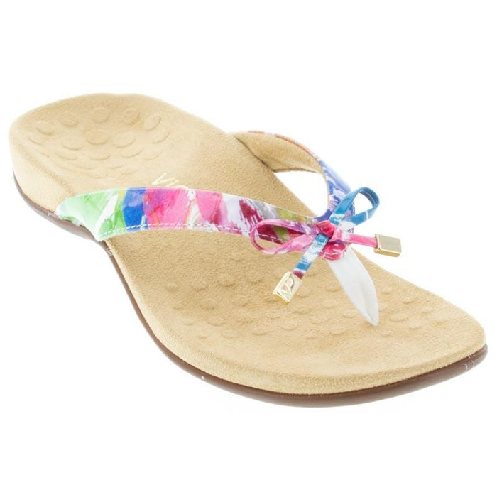 Bella II Toe Post Sandal White Floral - Birkenstock Plus