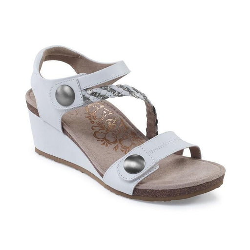 Naya Braided Quarter Strap Wedge Sandal White - Birkenstock Plus