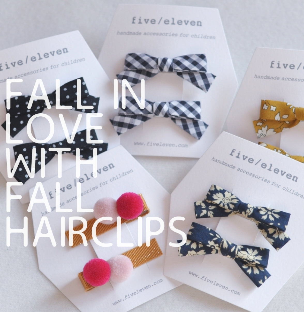 The fall hairclips