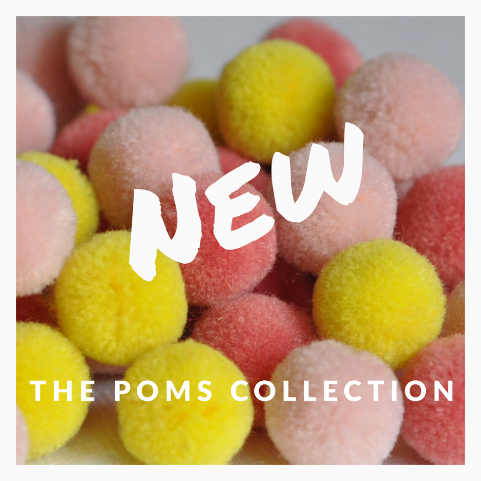New hair clips: the poms collection