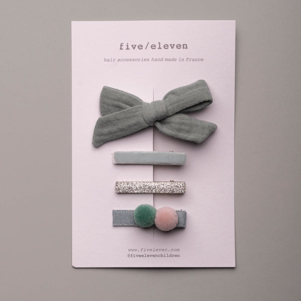 Forever bow - Petit set Mint