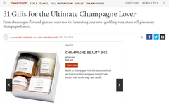 Town and Country Champagne Gift Guide 2018 - That Charming Shop