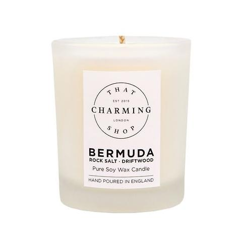 City Lights Candle - City Candle - Bermuda Travel Candle - Rock Salt Driftwood Candle - That Charming Shop