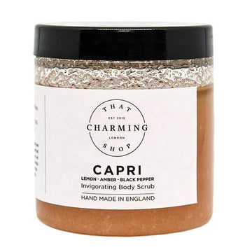 City Lights Body Scrub - City Body Scrub - Capri Body Scrub - Lemon Amber Black Pepper Body Scrub - That Charming Shop