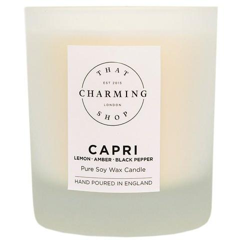 City Lights Candle - City Candle - Capri Candle - Lemon Amber Black Pepper Deluxe Candle - That Charming Shop