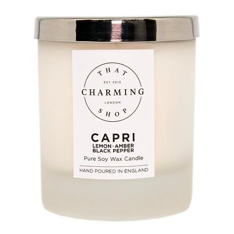City Lights Candle - City Candle - Capri Candle - Lemon Amber Black Pepper Home Candle - That Charming Shop