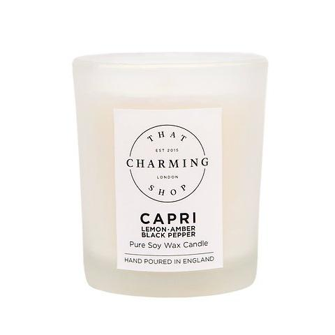 City Lights Candle - City Candle - Capri Candle - Lemon Amber Black Pepper Travel Candle - That Charming Shop