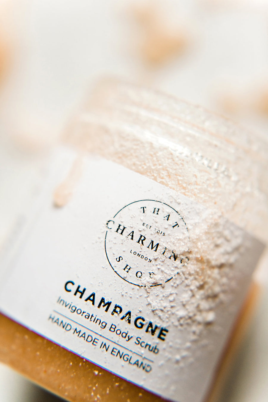 Champagne Body Scrub - That Charming Shop - Wedding Body Scrub