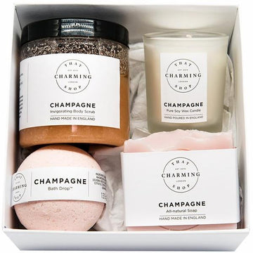 Champagne Beauty Box - Beauty Gift Box - Bridesmaid Proposal Box - That Charming Shop