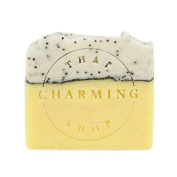 Lemon Poppy Soap - Exfoliating Soap - That Charming Shop