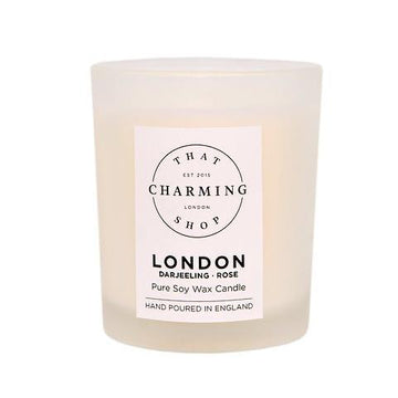 City Lights Candle - City Candle - London Travel Candle - Darjeeling Rose Candle - That Charming Shop