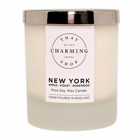 City Lights Candle - City Candle - New York Home Candle - Apple Violet Rosewood Candle - That Charming Shop