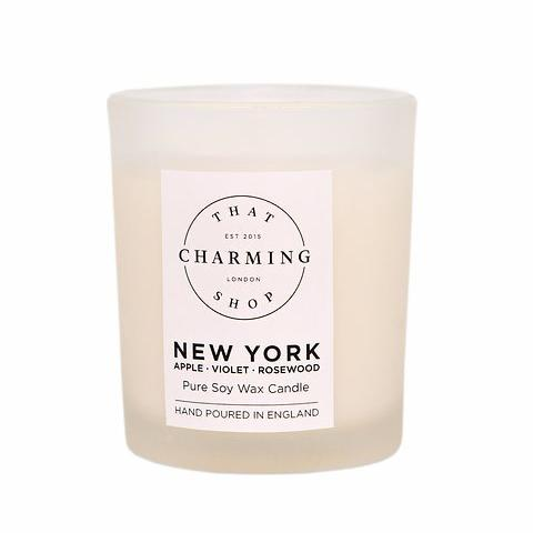 City Lights Candle - City Candle - New York Travel Candle - Apple Violet Rosewood Candle - That Charming Shop