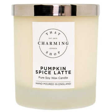 Pumpkin Spice Latte Deluxe Candle - That Charming Shop - Pumpkin Spice Candle - Pumpkin Spice Latte Candle - Pumpkin Candle - Autumn Candle - Winter Candle - Coffee Candle - Coffee Lover - Hygge - Hygge Candle